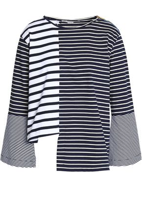 STELLA McCARTNEY Striped cotton-jersey top