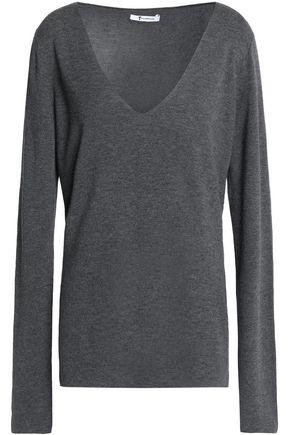 T by ALEXANDER WANG Mélange stretch-knit sweater