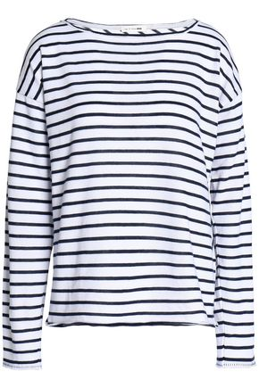 RAG & BONE/JEAN Striped cotton-blend top