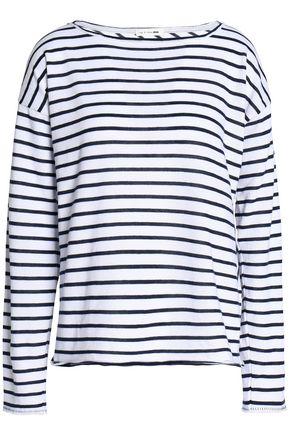 RAG & BONE Striped cotton-blend top