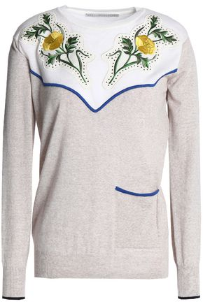 STELLA McCARTNEY Appliquéd Virgin wool sweater
