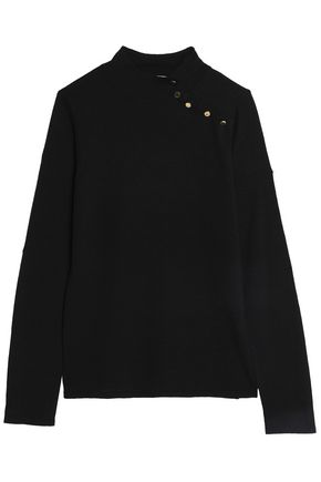 GOAT Button-detailed stretch-knit sweater
