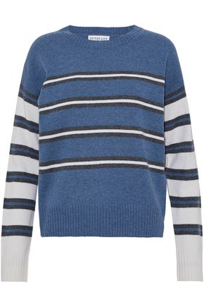 DEREK LAM 10 CROSBY Striped wool-blend sweater