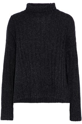 DEREK LAM 10 CROSBY Marled wool and cotton-blend turtleneck sweater