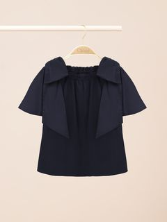 Blouse with bows