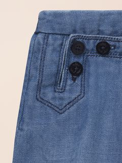 Denim sailor Punjabi pants