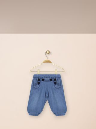 Denim sailor Punjabi pants