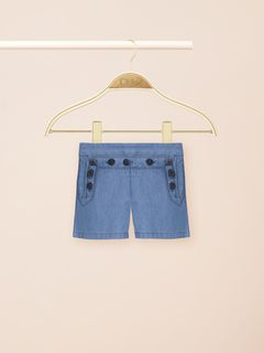 Denim sailor shorts
