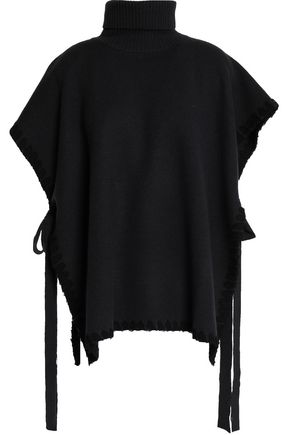 SEE BY CHLOÉ Draped wool turtleneck poncho