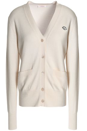 SEE BY CHLOÉ Appliquéd cotton and wool-blend cardigan