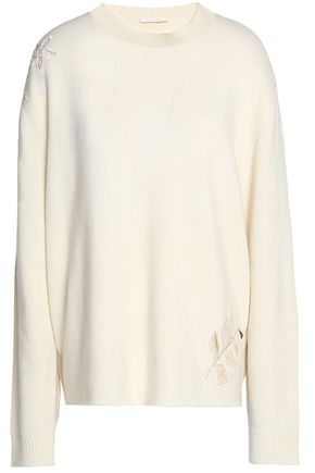 SEE BY CHLOÉ Embroidered stretch-knit sweater