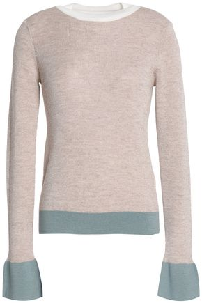 SEE BY CHLOÉ Fluted two-tone wool sweater
