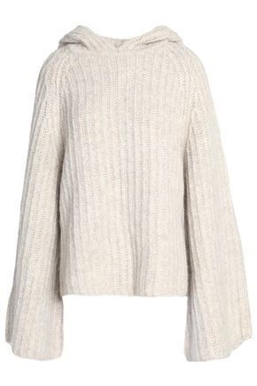 SEE BY CHLOÉ Ribbed-knit hooded sweater