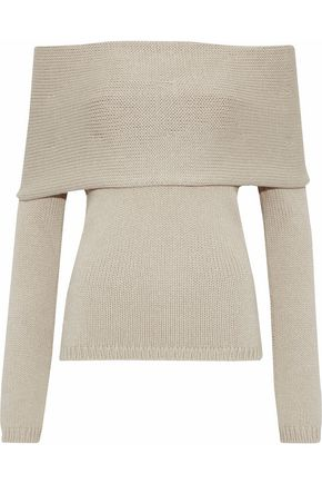 ROSETTA GETTY Off-the-shoulder knitted sweater