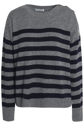 VINCE. Striped cashmere sweater