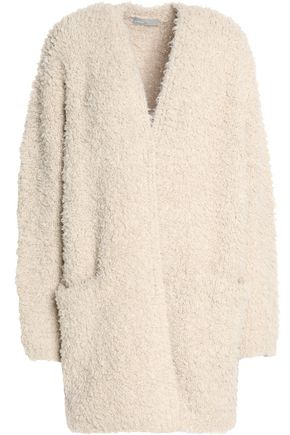 VINCE. Wool and cashmere-blend bouclé cardigan