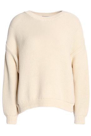 VINCE. Woven cotton-blend sweater