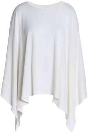 MAJESTIC FILATURES Cotton and cashmere-blend jersey poncho