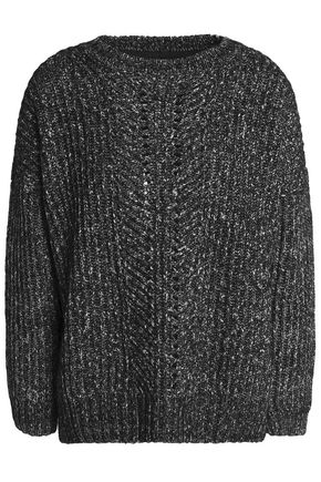 CHARLI Mélange cotton-blend sweater