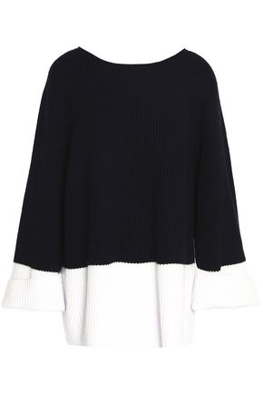 CHARLI Two-tone knitted sweater