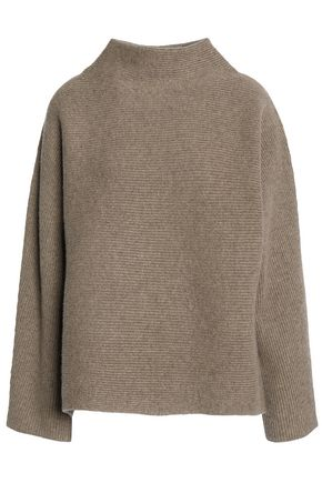 VINCE. Ribbed-knit wool and cashmere-blend turtleneck sweater