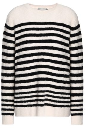 VINCE. Striped wool-blend sweater