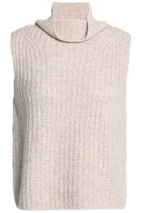 VINCE. Ribbed cashmere-blend turtleneck sweater