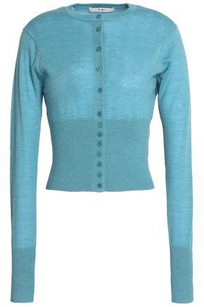TIBI Mélange rib-paneled cashmere sweater