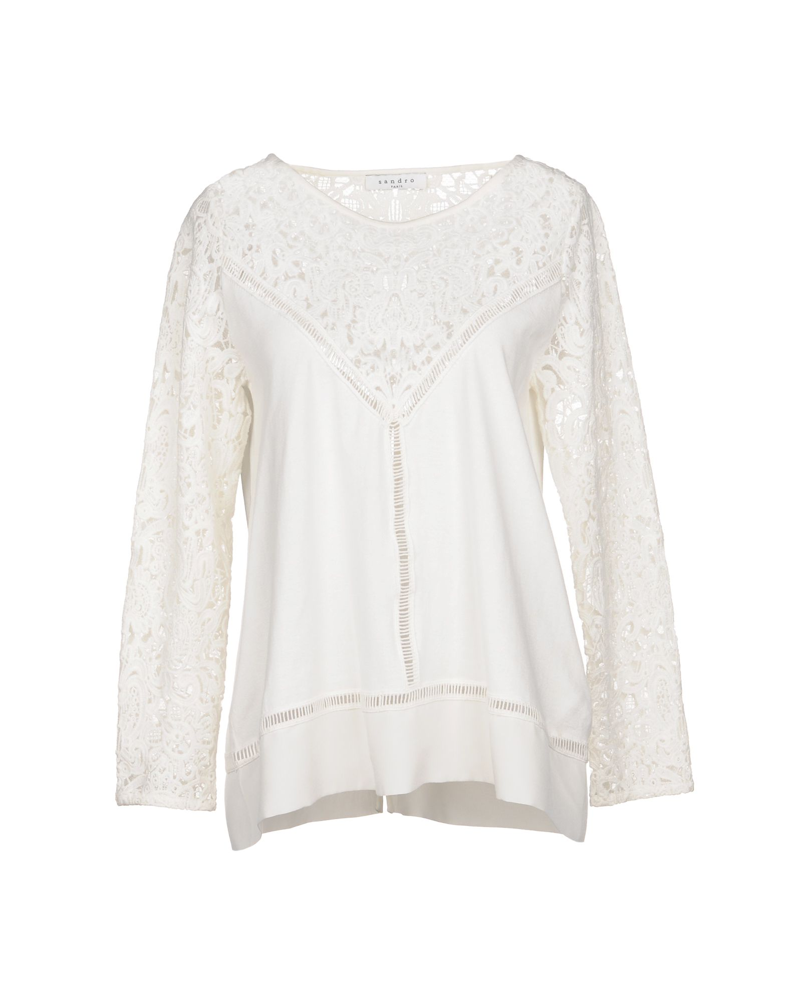 SANDRO PARIS Sweater in Ivory