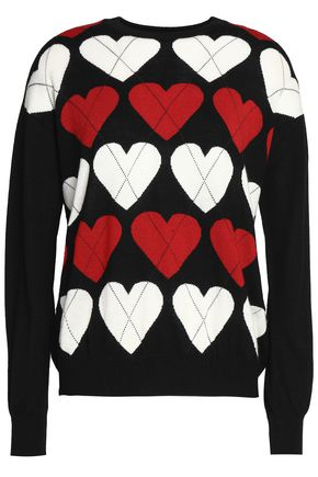 LOVE MOSCHINO Intarsia wool-blend sweater