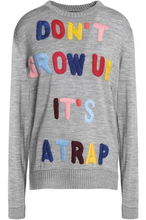 LOVE MOSCHINO Embroidered wool sweater