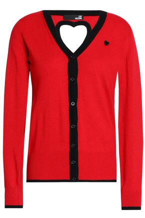 LOVE MOSCHINO Cutout knitted cardigan