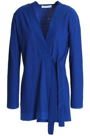 SANDRO Paris Manon cotton, silk and cashmere-blend wrap cardigan