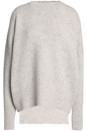 ADAM LIPPES Ribbed-knit merino wool and cashmere-blend top