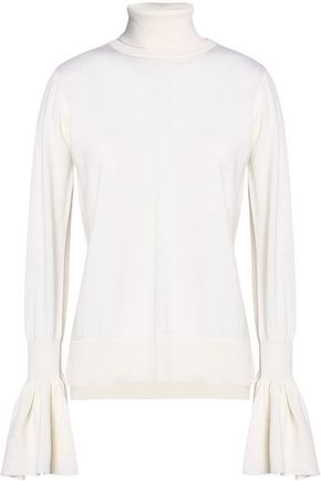 ADAM LIPPES Fluted knitted wool turtleneck sweatre