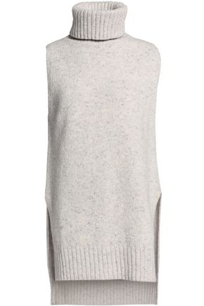 ADAM LIPPES Speckled knitted wool and cashmere-blend turtleneck sweater