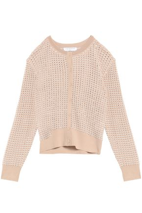 SANDRO Paris Pointelle-knit cardigan