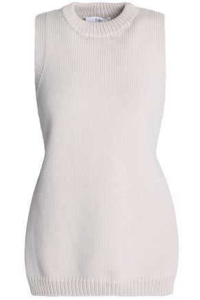 TIBI Tie-back cotton-blend sweater