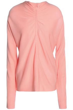 TIBI Ruched stretch-knit top