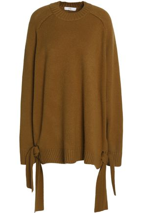 TIBI Oversized knot-detailed cashmere sweater
