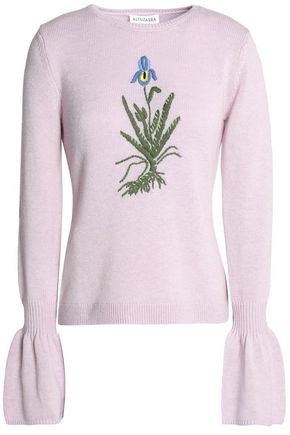 ALTUZARRA Embroidered stretch-wool sweater