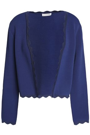 ALTUZARRA Scalloped ponte cardigan