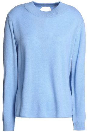 MICHELLE MASON Wrap-effect merino wool and cashmere-blend sweater
