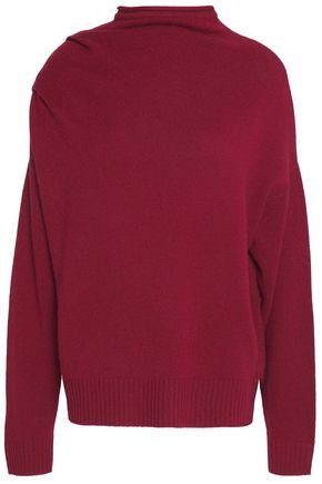MICHELLE MASON Draped wool, yak and cashmere-blend sweater