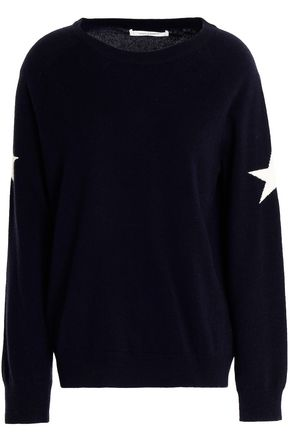 CHINTI AND PARKER Intarsia-trimmed wool and cashmere-blend sweater