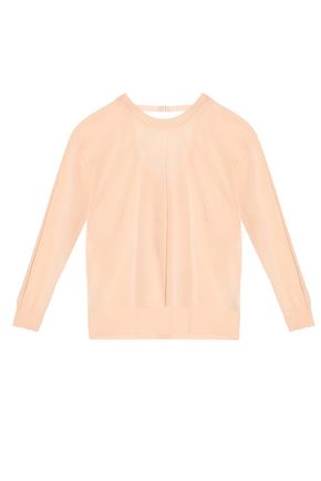 SANDRO Paris Cutout cotton-blend sweater