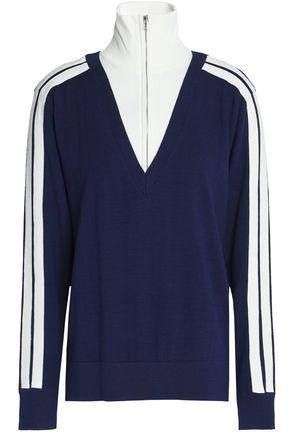 SANDRO Paris Cotton and wool-blend turtleneck sweater