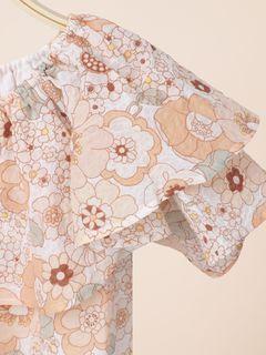 Flower-print dress