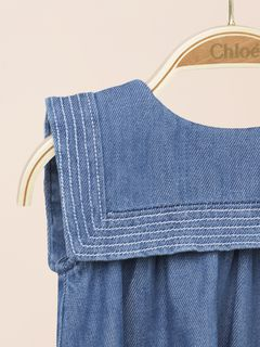 Sailor collar denim dress