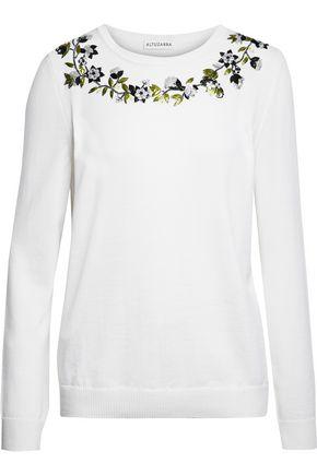 ALTUZARRA Embellished merino wool sweater